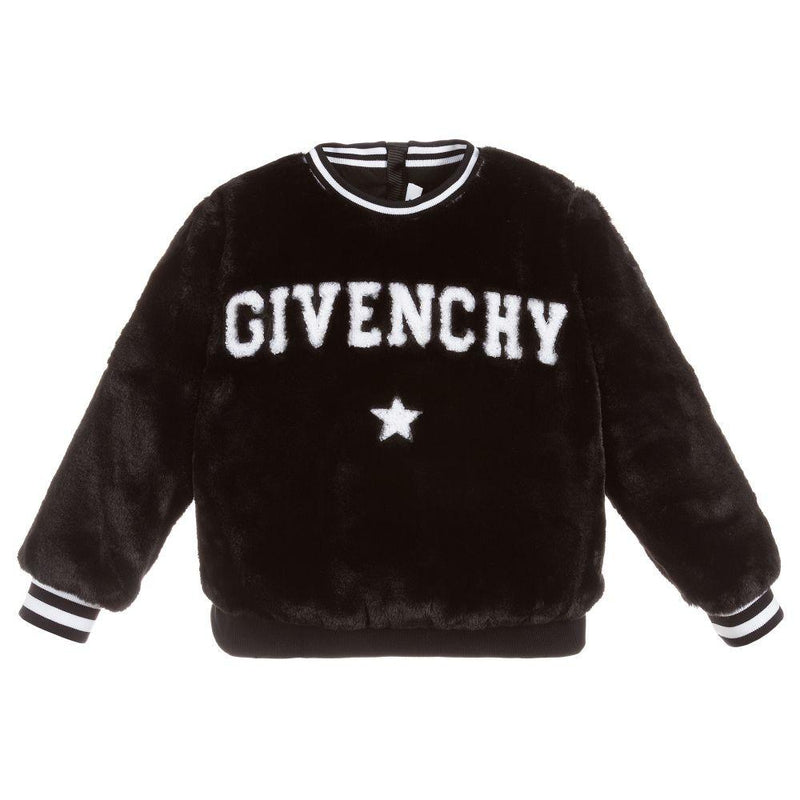 Givenchy Fancy Sweatshirt For Girls, Black