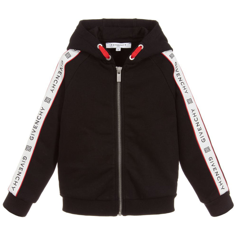 Givenchy Hooded cardigan in no brushed fleece for Girls
