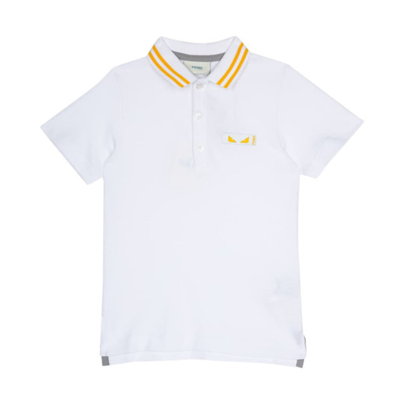 Fendi Boy Cotton Piquet Polo for Boys