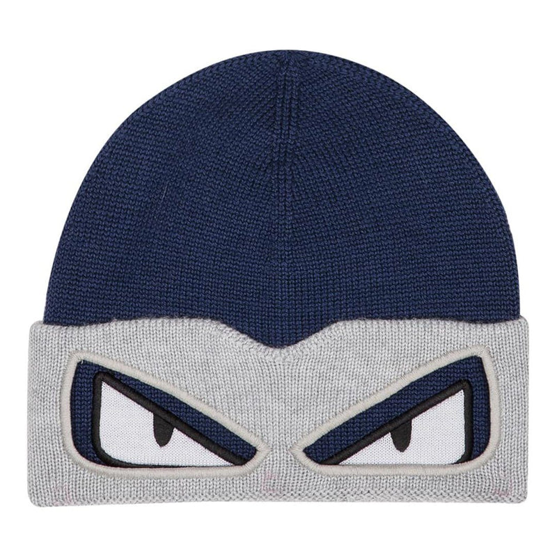 Fendi Bugs Hat For Boys, Blue/Grey