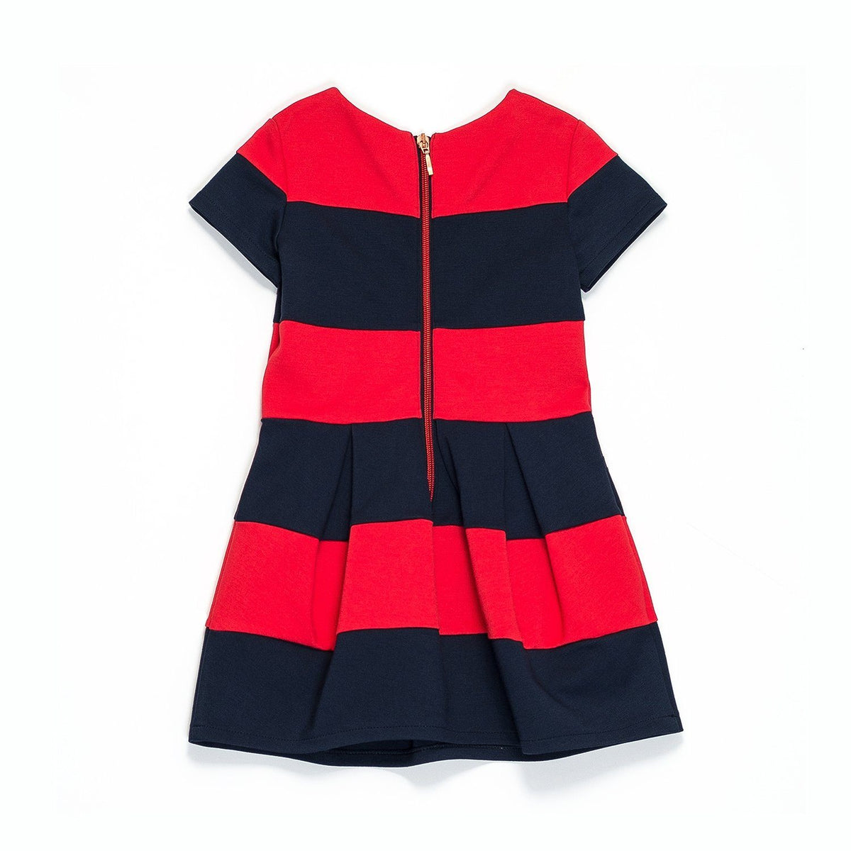 Junior Gaultier - Dress With Bold Stripes, Red And Blue