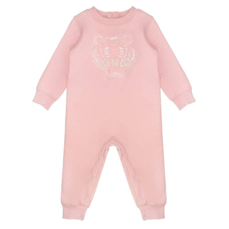 Kenzo Tiger BG 6- All In One Bodysuit For Girls, Light Pink