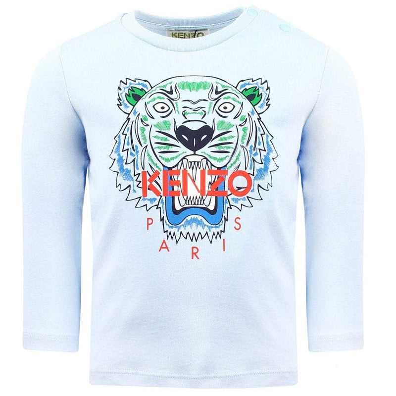 Kenzo T-Shirt Tiger BB1 for Boys, Light Blue
