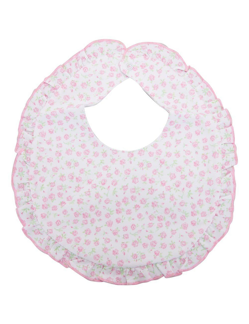 Kissy Kissy - Rambling Roses Bib for Girls, Pink