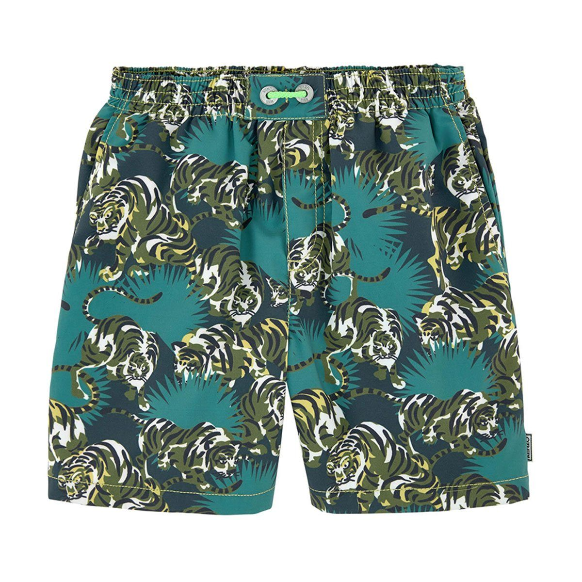 Kenzo - Bathing Trunk With Jungle Print For Boys, Green