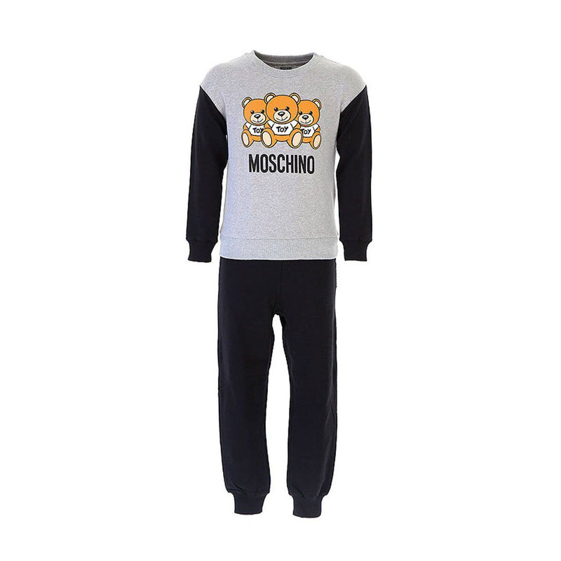 Moschino Sweatshirt And Trousers Set, Unisex, Grey/Black
