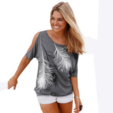 Feather Tee-shirt Femme