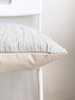 White Black Striped Pillow Cover - 16x16