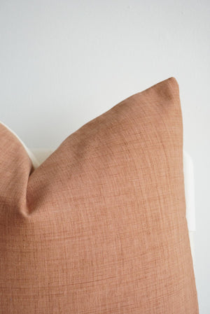 Brown White Striped Pillow Cover - 16x16