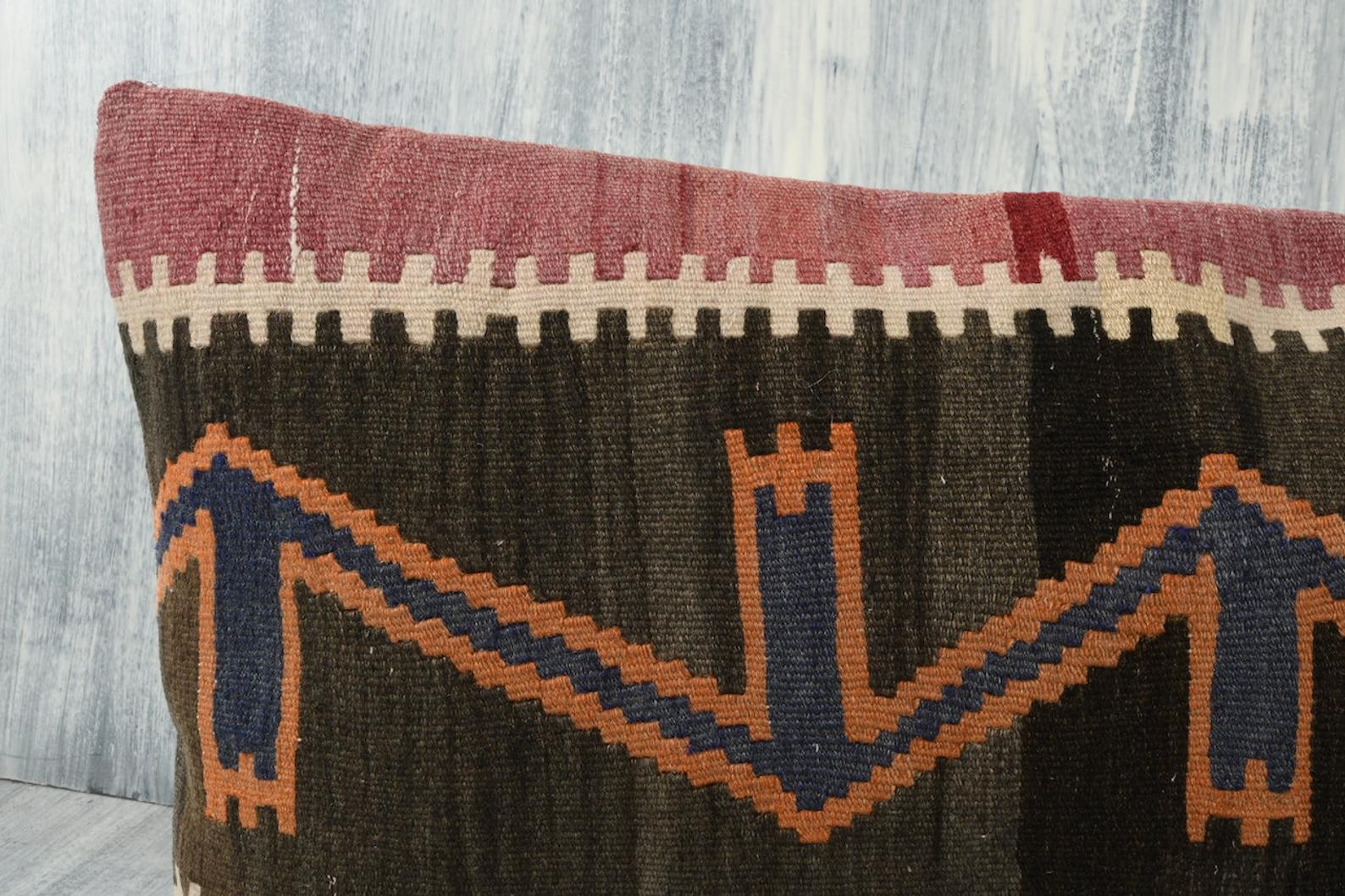 Turkish Kilim Pillow Cover - 12x24