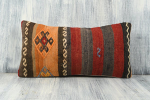 Turkish Kilim Pillow Cover - 8x16