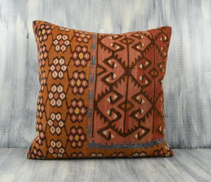 Turkish Kilim Pillow Cover - 24x24