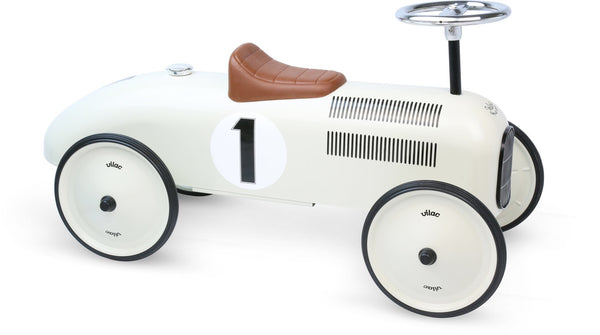 White Vintage metal Car - Woodynationkids