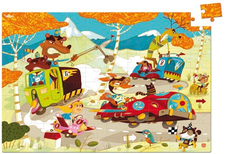 Cars Race Wooden Puzzle (100pcs) - Woodynationkids