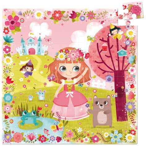 Princes of Flowers Wooden Puzzle (56pcs) - Woodynationkids