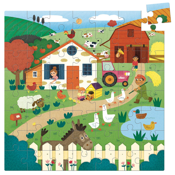 Farm Cardboard Puzzle (56pcs) - Woodynationkids