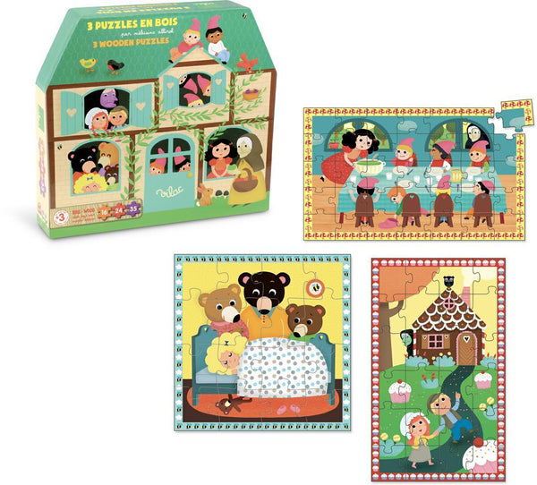Fairy Tales 3 Wooden Puzzle set - Woodynationkids