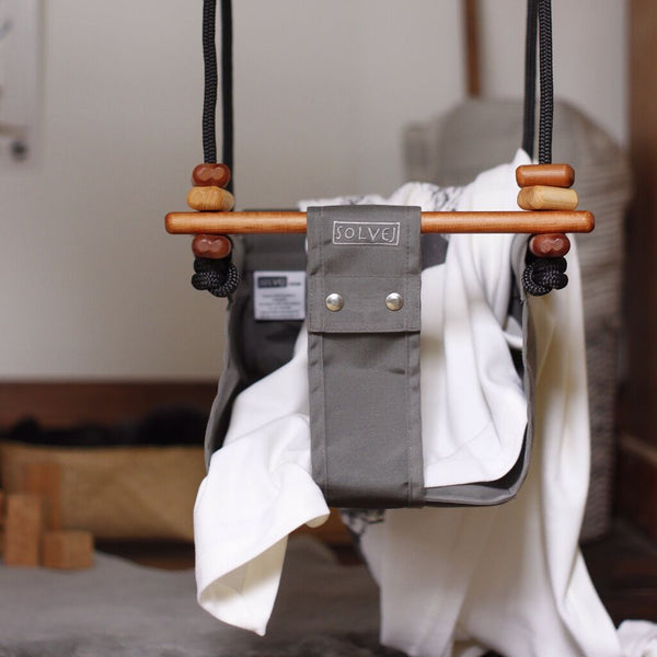 Baby & Toddler Swing - Classic Taupe - Woodynationkids
