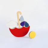 Red Umbrella -  Stacking & Balancing Toy - Woodynationkids