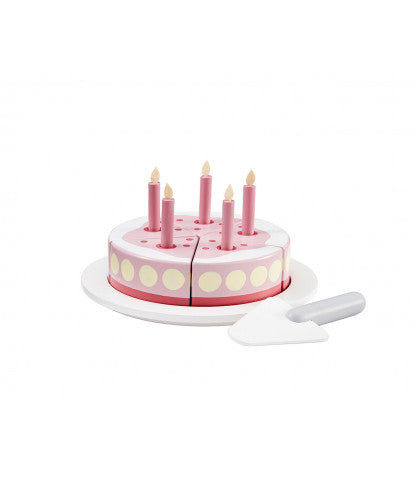 Wooden Birthday Cake - Pink