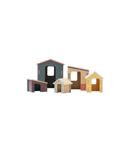 Small Wooden Houses Set