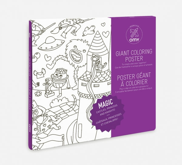 Giant Colouring Poster- Magic - Woodynationkids
