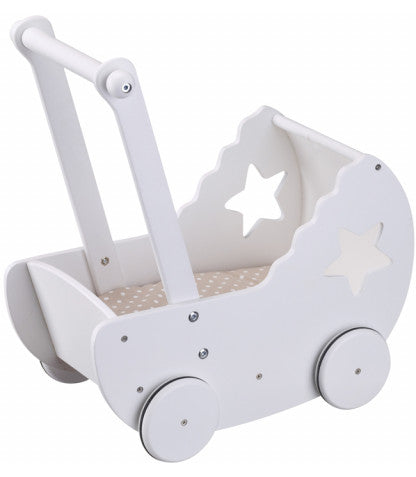 Princess Dolls Pram - White