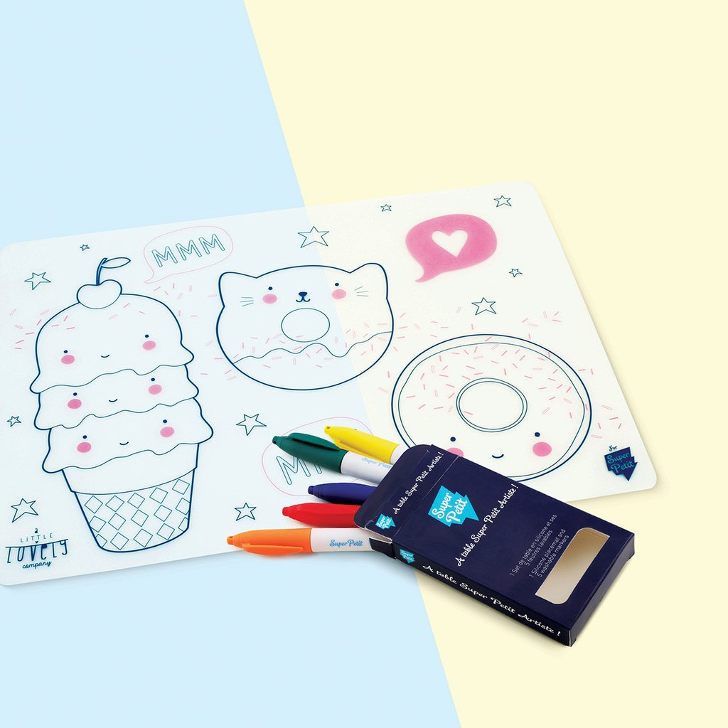 Silicon Tablemat Set- A little lovely company, special edition - Woodynationkids