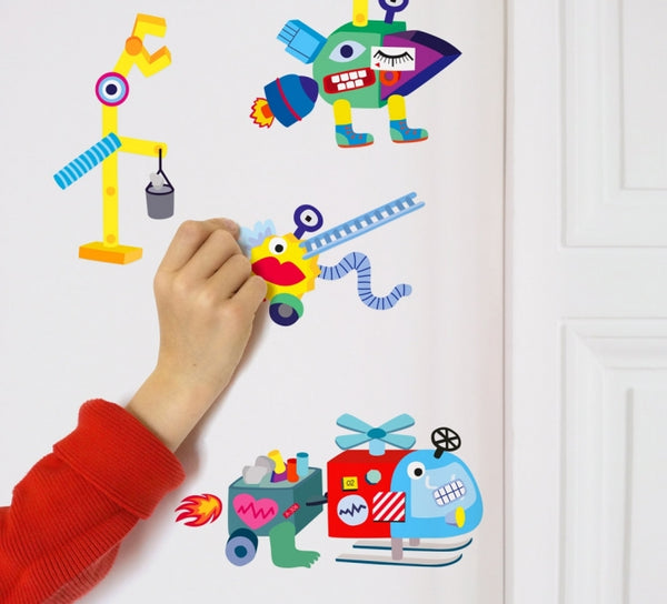 Wall Stickers- Robots - Woodynationkids
