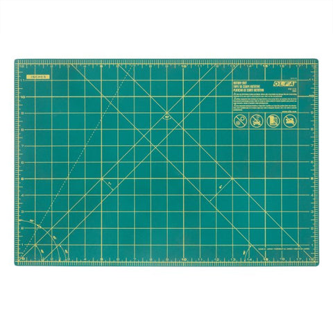Olfa 12″ X 18″ Self Healing Double Sided Rotary Mat (RM-CG)