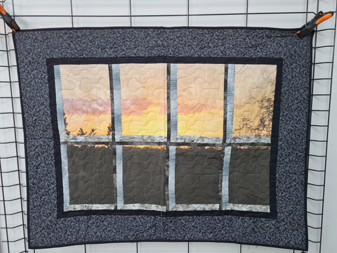Attic Window, A Look At The Sunset