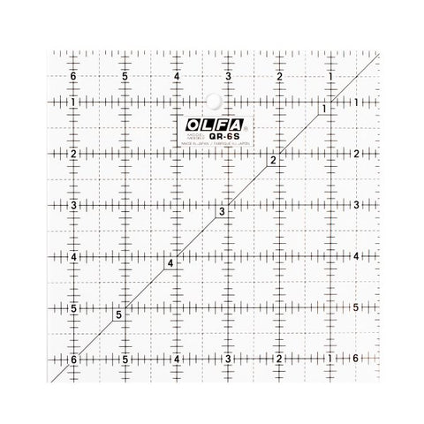 Olfa 6 1/2″ Square Frosted Acrylic Ruler (QR-6S)