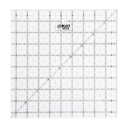 Olfa 9 1/2″ Square Frosted Acrylic Ruler (QR-9S)