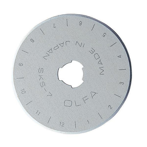 Olfa 45mm Tungsten Steel Rotary Blade, Pack of 1 (RB45-1)