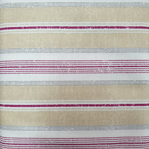 Burgundy, Grey and Beige Combination Stripe - Live Life Collection