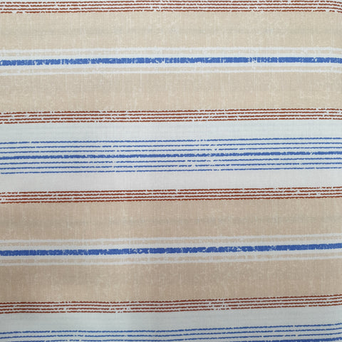 Burgundy, Blue and Beige Combination Stripe - Live Life Collection