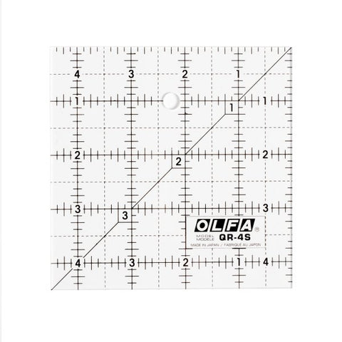 Olfa 4 1/2″ Square Frosted Acrylic Ruler (QR-4S)