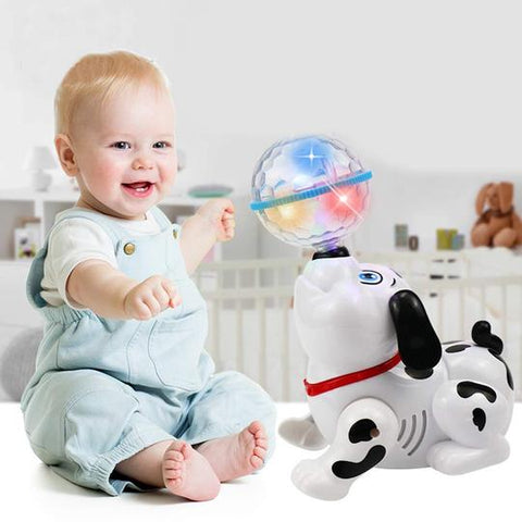 Dancing Dog Beautiful Toy With Music & Slashing 4D Lights - Baby Shop India