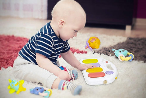 Kick & Play Baby Activity Piano Play Gym with Music and Lights for Infants and Toddlers Age 0 to 18 Months - Frog - Baby Shop India
