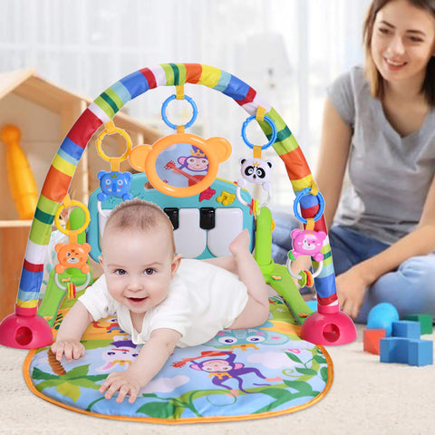 Kick & Play Baby Activity Piano Play Gym with Music and Lights for Infants and Toddlers Age 0 to 18 Months - Baby Shop India
