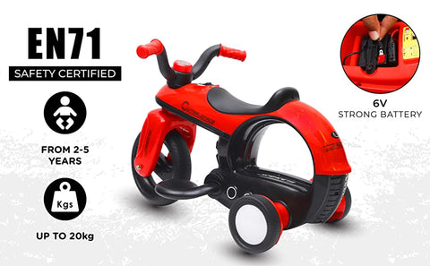 R For Rabbit Discovery Electric Bike for Kids - Red - Baby Shop India