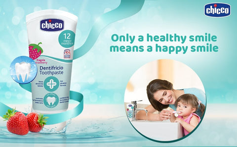 Chicco Dentifricio Toothpaste for Kids Strawberry Flavour - 50 ml - Baby Shop India