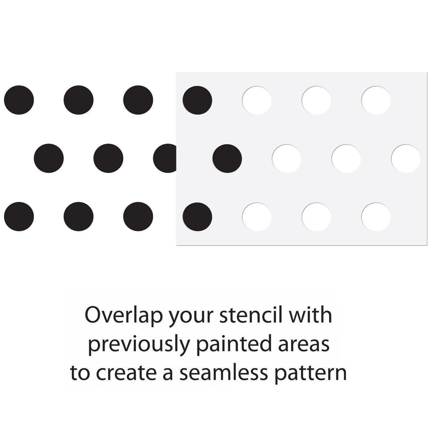 Large Polka Dot Pattern Wall Stencil Guide