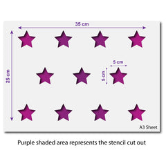 CraftStar Small Stars Repeating Pattern Stencil - A3 Size