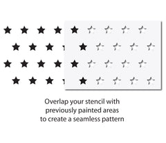 CraftStar Small Stars Repeating Pattern Stencil - Alignment Guide