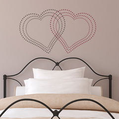 CraftStar Geometric Dot Heart Stencil - Interlocking Pattern