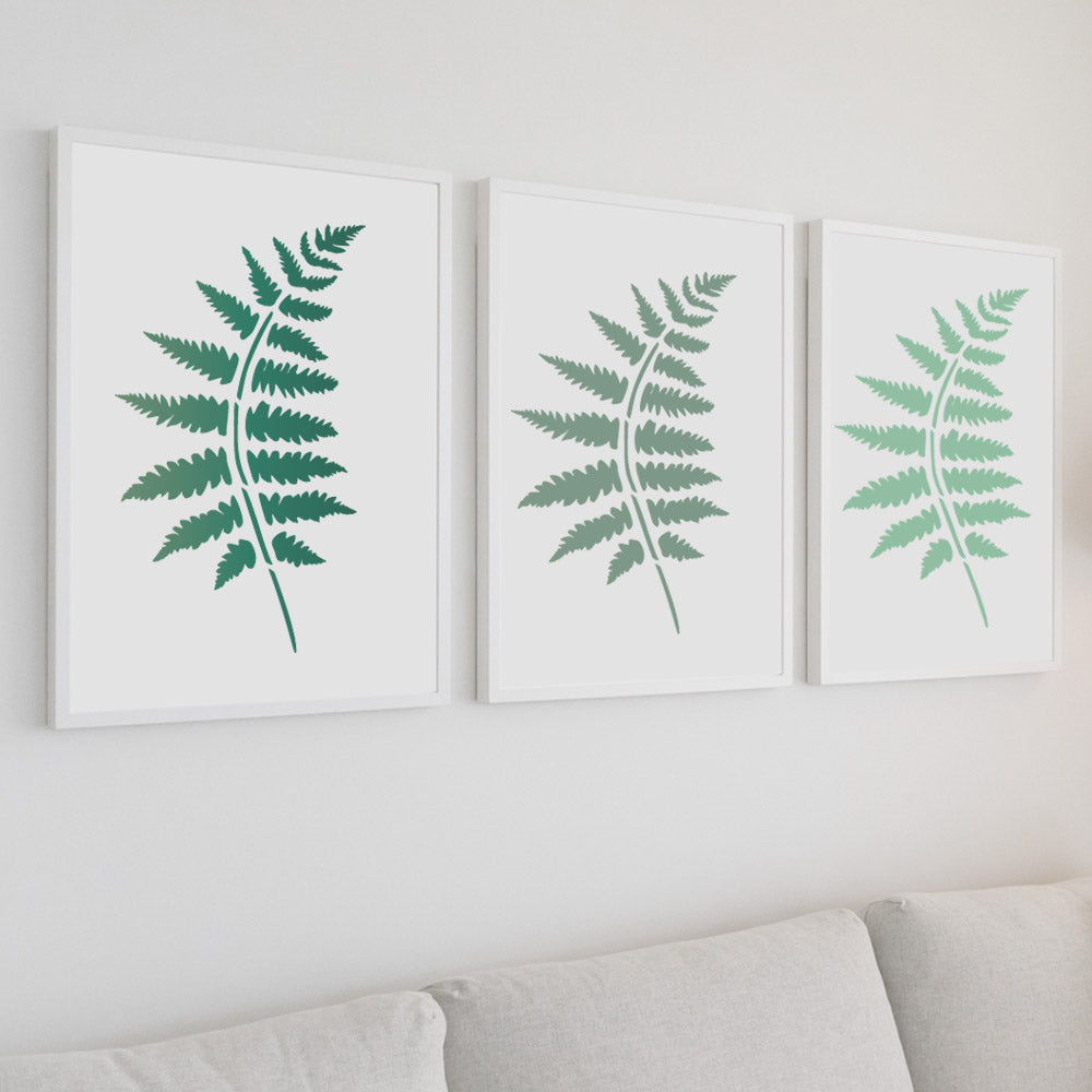 CraftStar Fern Frond Stencil used to make prints