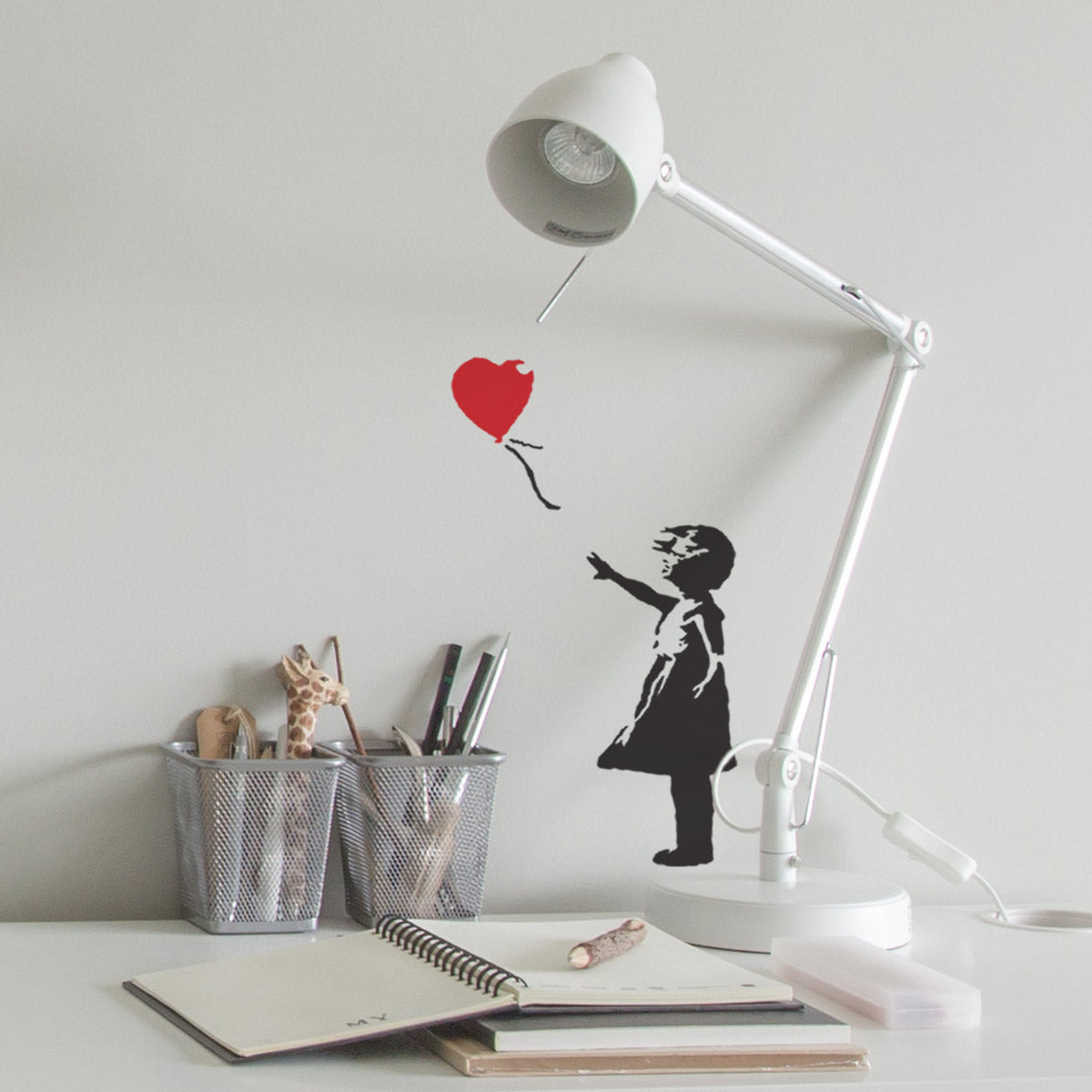 CraftStar Banksy Balloon Girl Stencil in Study