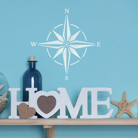 CraftStar Compass Stencil - Nautical Decor