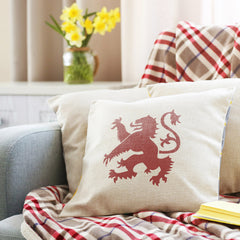 CraftStar Lion Rampant Stencil on Fabric Cushion